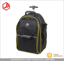 Durable rolling tool bag backpack with trolley