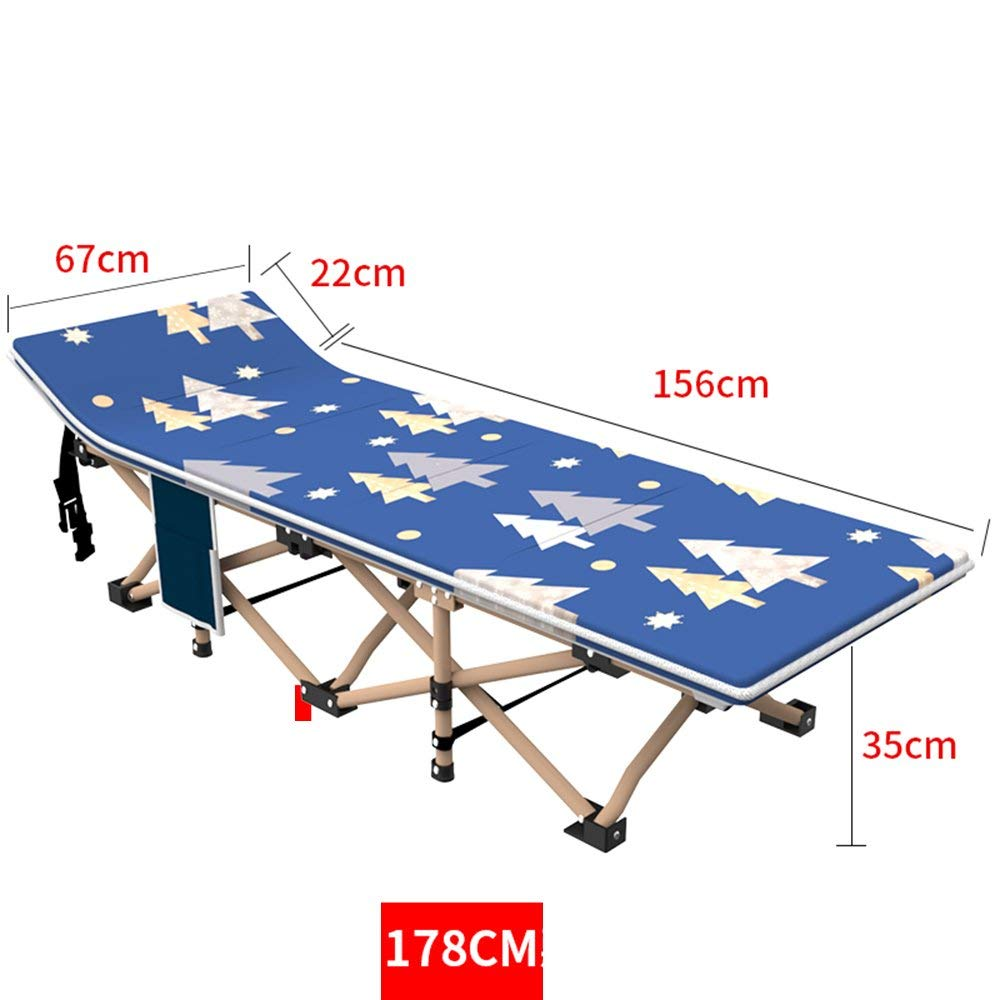 Rocking Chairs MEIDUO Siesta bed Camping Cots for Adults, Easy and Portable Folding Cot Bed with Carry Bag. (Color : 178CM)