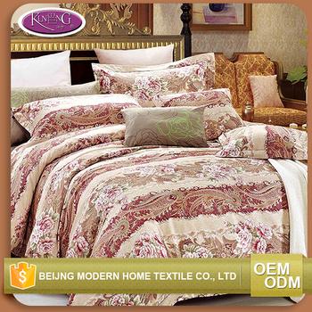Nice Sleep Textile Stock 100% Cotton King Size Bedding Set Print Beautiful  Bedsheets