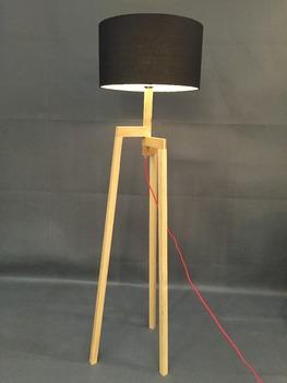 Modern 3 Leg Extend Wood Floor Lamp White/black/red/linen Bedroom ...