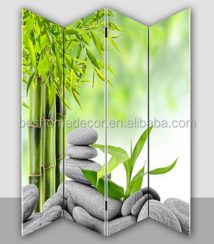 4 Panels Removable Room DividerBamboo Room DividersRoom Paravent