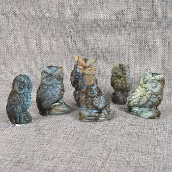 Whole Natural Gemstone Carving Mini Owls Hot Mix For