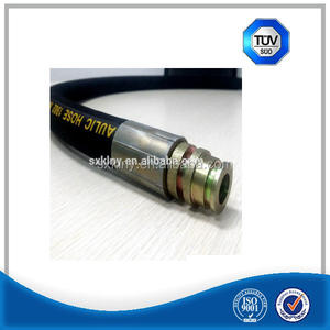 Steel wire braided oil resistant hydraulic rubber hose assembly