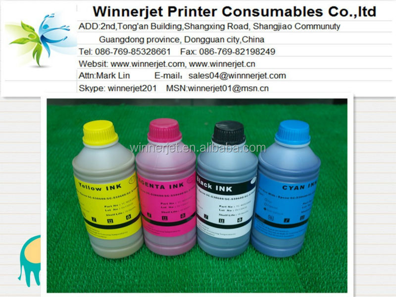 Eco Solvent Inks Compatible For Epson Surecolor S30610 printer ink