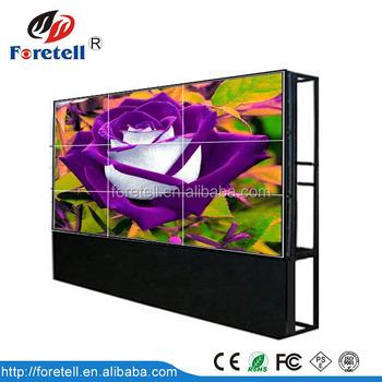 46 Inch Seamless Video Wall 2x2 3x3 4x4 High Definition Lcd Video Screen TV  Wall Display