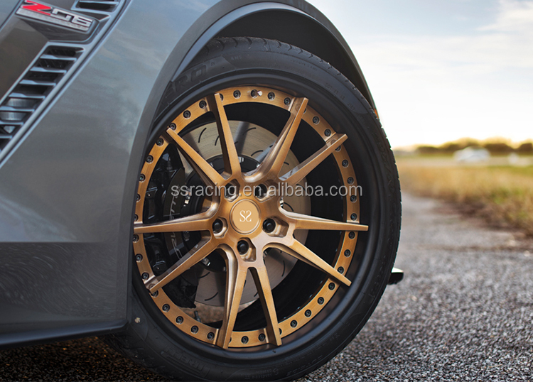 20x10 and 20x11 New Style 2-PC Forged Wheel Rims For Chevrolet Camaro/20inch Staggered Forged Rims