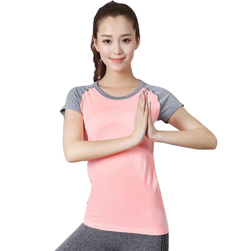 Womens Yoga Shirts Tops Fitness Clothes Yoga Tanks ropa deportiva Yoga Shirt quick dry spandex sportswear woman running shirt