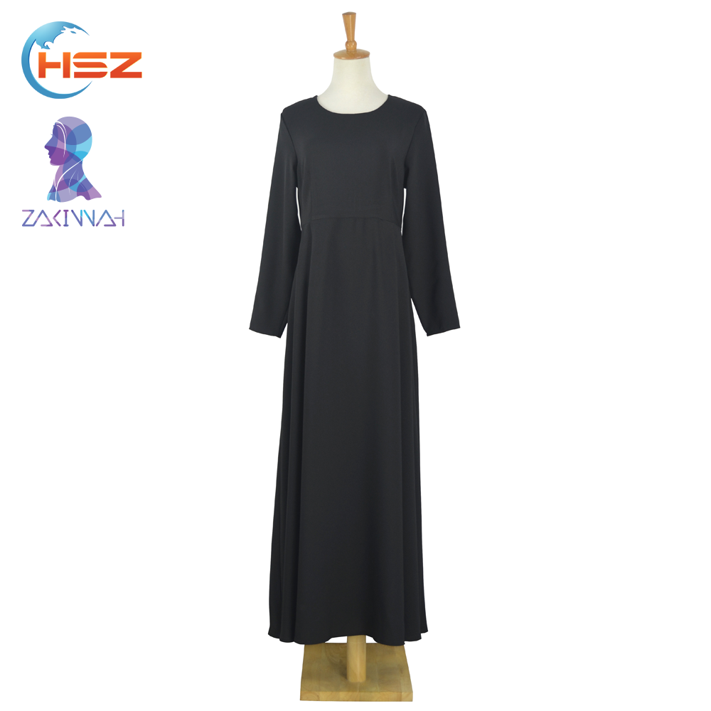 Zakiyyah E004 Dubai Long Maxi Dress for Sale Abaya for Women Party Wear Pure Long Sleeve Muslim Dress 2016