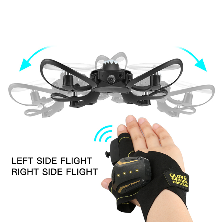 cool quadcopter drone professional with hand gesture sensing control