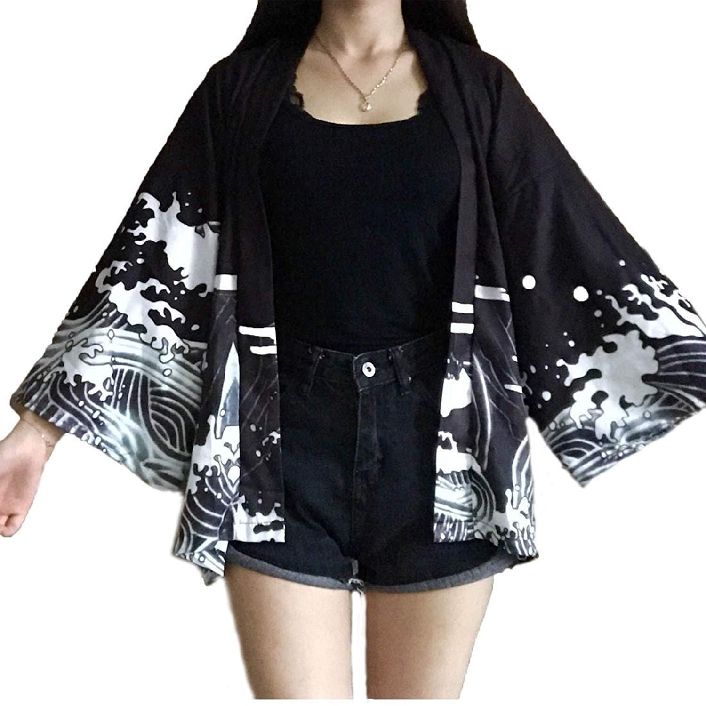 585904cef91d7 Get Quotations · MAYSONG Women Fly Dragon Kimono Yukata Bathrobe Cardigan  Yukata