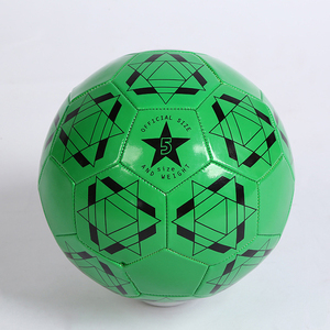 Hot sale green leather foam training football