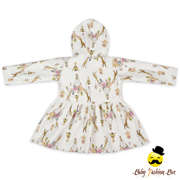 0359956d8e01 2lyf127 Yihong Winter Baby Girl Cute Printed Deer Hooded Warm Coat ...