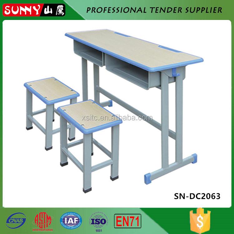 asientos dobles escuela escritorios y mesas con sillas