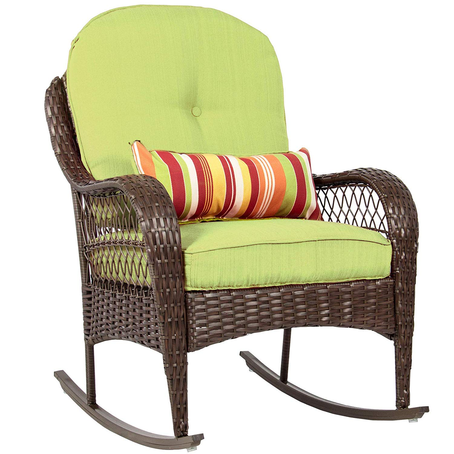 Buy Dzvex Wicker Rocking Chair Patio Porch Deck Furniture Weather