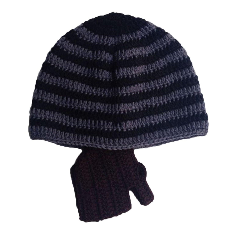a47b7f98118 Get Quotations · Zerlar Knitting Balaclavas Headwear Beard Hat Knit Beanie  Hat