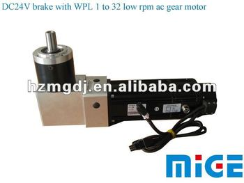Dc24v Brake With Wpl 1 To 32 Low Rpm Ac Gear Motor Buy