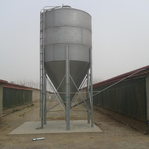 MUHE hot galvanized feed storage silo for livestock and pig farm