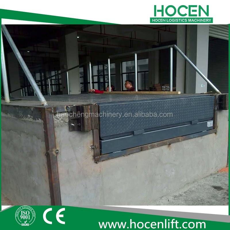 Logistics Warehouse Loading Bay Equipment 10T Hydraulic Container Forklift Unloading Ramp Manufacturer