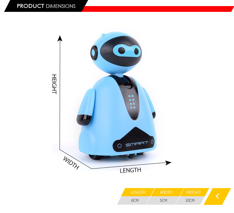 Follow black line inductive robot magic toy for child