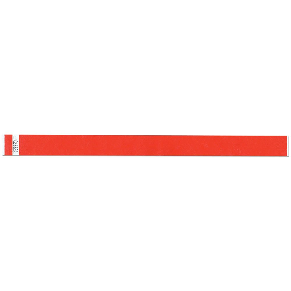 3/4 Inch Tyvek Tytan-Band® Wristbands - Economical Comfortable Tear Resistant - Red - 500 Pieces Per Box