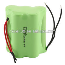 6V AA 1600mah Nimh rechargeable battery pack for toys , LED lighting