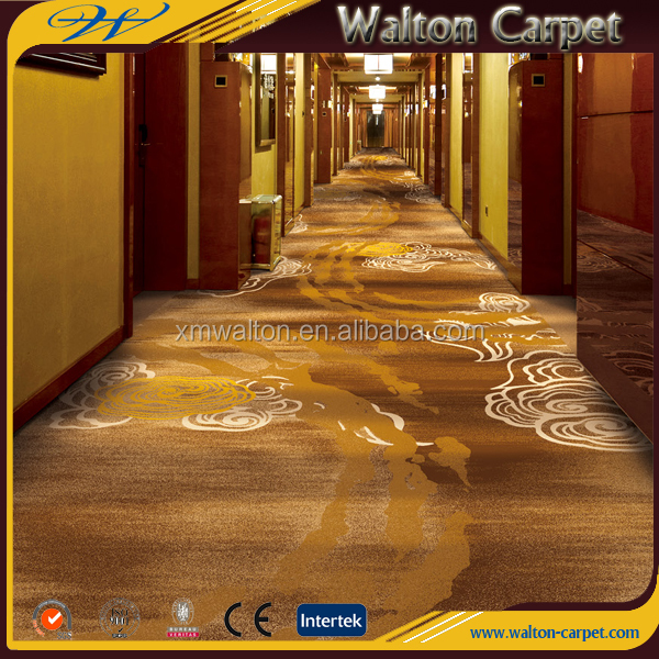 Printing commercial project hotel cut pile fireproof corridor carpet