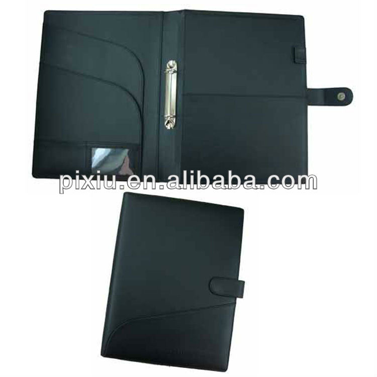 A4 imitation leather ring binder folder