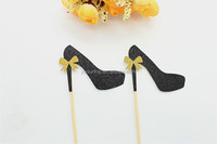 Hight heel glitter Cupcake Toppers Party Birthday Decoration Bridal Shower Cake Toppers