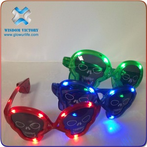 led seven color optional glow glasses/glow flute for parties and celebration,wholesale led sunglasses