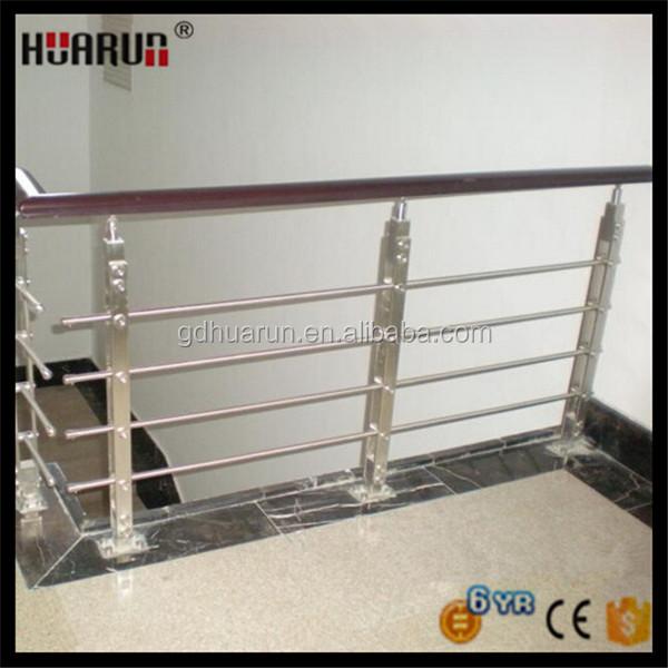 Sus304 850 tot 1200mm hoogte balkon roestvrijstalen reling ontwerp balustrades en leuningen - Railing trap ontwerp ...