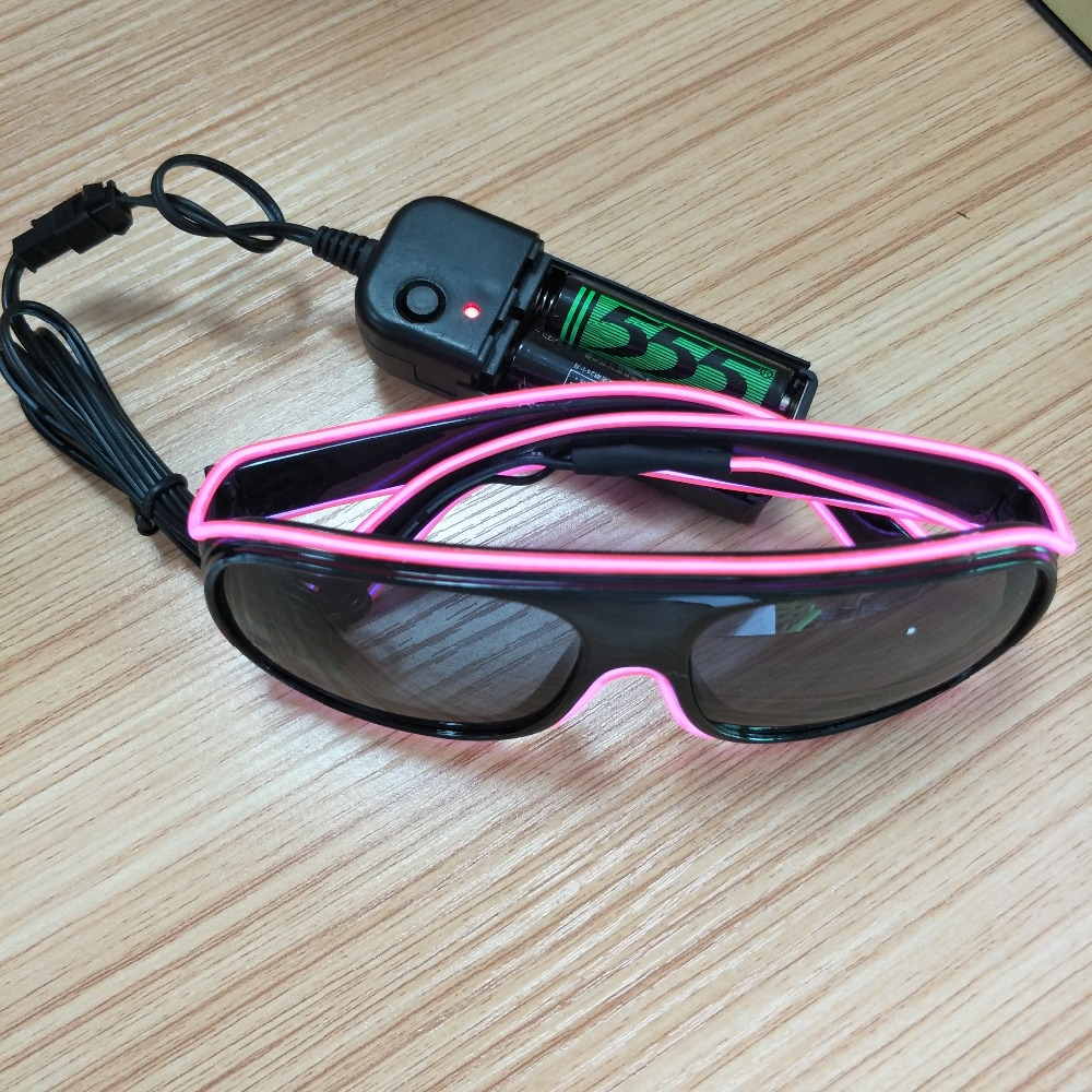 Very cheap price rgb multi color led party sunglasses decoration halloween advertising el wire sunglasses