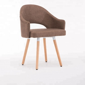 2018 fashion modern dining chair with wood legs luxury dining chair hollow back design
