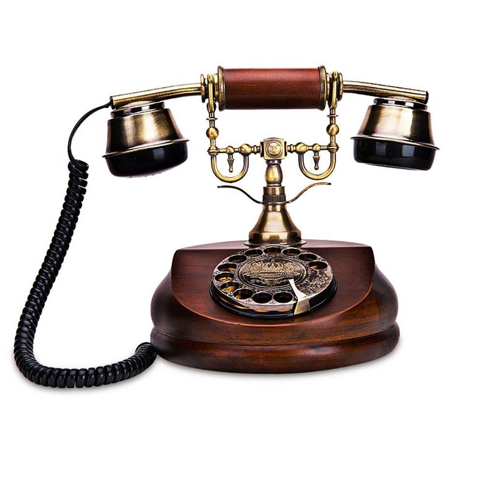 retro Telephone Retro Telephone European Antique Rotary Office Home Landline Fashion Creative Landline Solid Wood