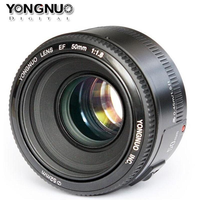 YONGNUO YN 50mm F1.8 עדשות גדולות צמצם אוטומטי פוקוס עדשה YN 50 YN50 עבור Canon אלה מצלמות DSLR