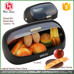 new design hot sale large stainless steel bread storage bin metal kitchen sandwich display bread bin for sale for home use