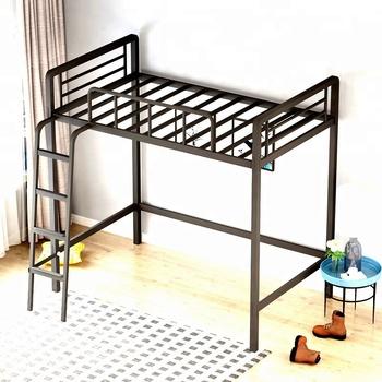 China Loft Furniture Steel Bed Frame Base College Loft Beds With Ladder