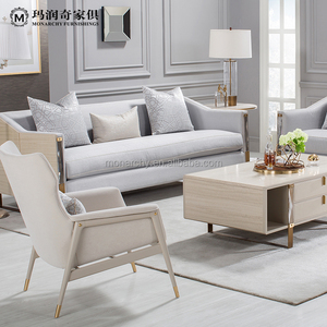 V201-3 Top sell metal legs simple wooden oriental 3 seater sofa sets set design for house