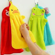 Nursery Hand Towel Soft Plush Fabric Cartoon Animal Hanging Wipe Bathing Towel  1QDU