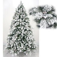 6ft white snowing effect christmas tree with led UL