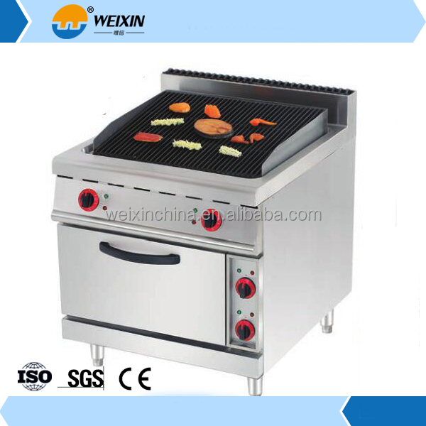 Combination Oven Type Gas Lava Rock Grill