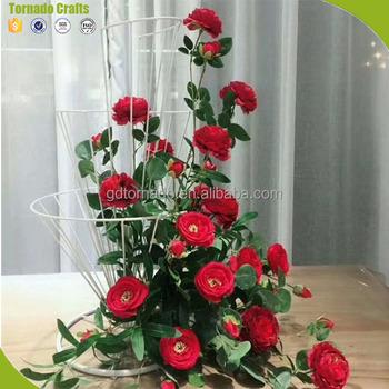 71afea850dee4 Flores artificiales arreglos de Mesa 5 tall artificial boda MESA CENTRO DE  MESA es de seda