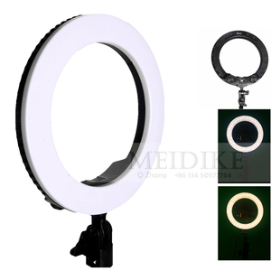 10in Dimmable Ring led lamp for photo and self-portrait video shooting, makeup ring with light bi-color smd led 28w