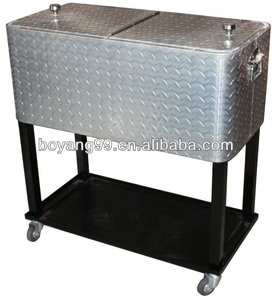 trolley wine metal ice cooler box
