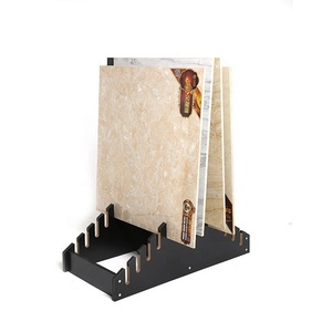 Customised waterfall simple hard wood ceramic tile stand