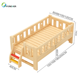 Modern High Quality Solid Pine Wooden Creative Children Bedroom Furniture Sets Kids Single Bed