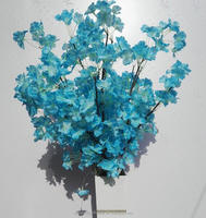 Wholesale cheap price Artificial tree cherry blossom branch blue branch for centerpieces