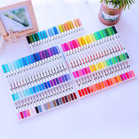 Professional 24 Color Double-Tipped Two Heads Watercolor Pen Painting Pen for Painting Drawing Sketching