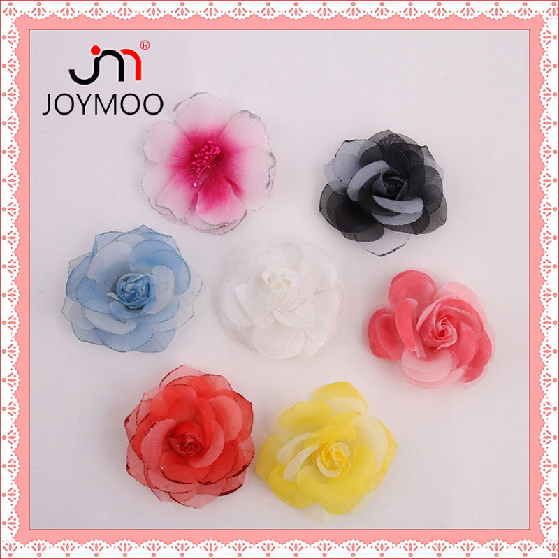Factory Supply Handmade Beautiful Decorative Fabric Flower for Clothing