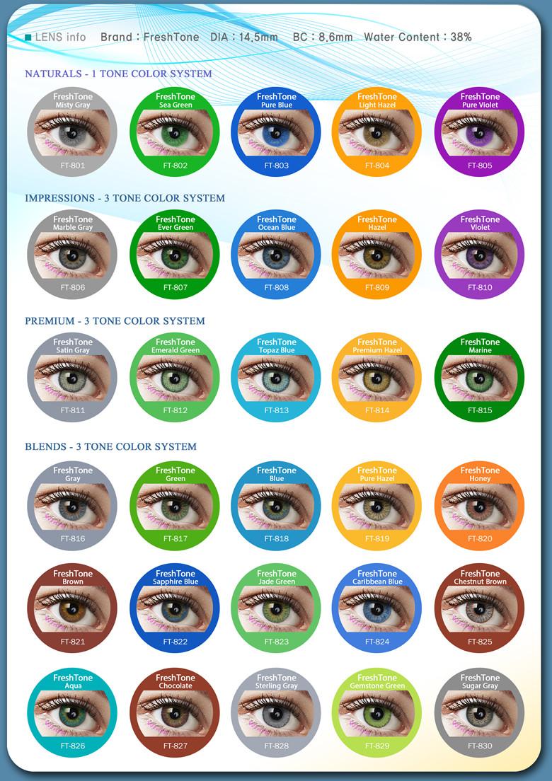 wholesale fresh tone natural look light hazel cheap colored contacts lenses - Colored Contacts Hazel
