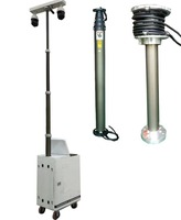 9m (30feet) Portable military Pneumatic cellular Telescopic Masts With Tripod Mobile Light Tower